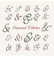 Handdrawn Ampersand Collection vector image vector image