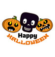 happy halloween logo cartoon style vector image