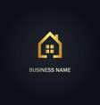 home realty window gold logo vector image vector image