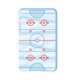ice hockey field vector image vector image