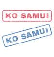 ko samui textile stamps vector image vector image