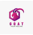 logo goat gradient colorful style vector image