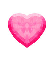 low poly pink heart vector image