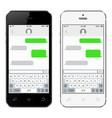 mobile phones with korean alphabet virtual vector image vector image
