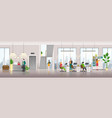 modern business center interior background people vector image vector image