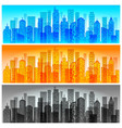 modern city skyline colored vector image vector image