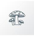 mushroom icon line symbol premium quality vector image