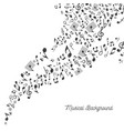 music background in black and white vector image vector image