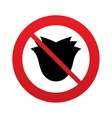 No Flower sign icon Rose symbol vector image vector image
