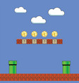 old game background classic retro arcade design vector image vector image