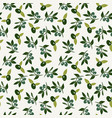 olive and branch seamless background vector image