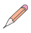 pencil - sketch drawing doodle color vector image
