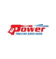 power cleaner logo design vector image