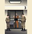 prisoner in the jail vector image