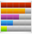 progress step phase indicators simple 5-step vector image vector image