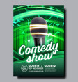 promotional banner flyer of stand up show vector image vector image