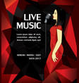 promotional musical performance poster vector image vector image