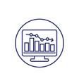 recession or economic decline line icon vector image