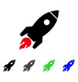 rocket launch flat icon vector image vector image