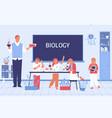school biology flat vector image
