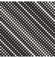Seamless Diagonal Halftone Circle Lines vector image