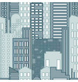 seamless pattern of cartoon hand drawing city vector image vector image