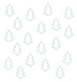 seamless pattern pine tree christmas silhouette vector image