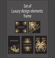 set gold black decorative luxury design vector image vector image