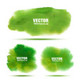 set of bright green watercolor stains vector image vector image