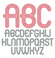 set trendy modern capital alphabet letters vector image