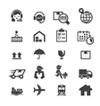 shipping icon set vector image vector image
