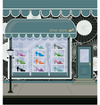 Shoe store vector image