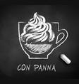 sketch con panna coffee vector image vector image