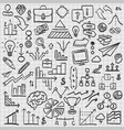 sketch icons set business vector image vector image