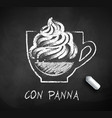 sketch of con panna coffee vector image vector image
