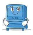 smirking mailbox character cartoon style vector image vector image