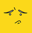 sorry smile icon template design sad emoticon vector image