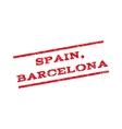 Spain Barcelona Watermark Stamp vector image