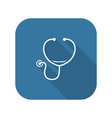 stethoscope and medical services icon vector image vector image