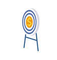 target in center with dollar stands on pedestal vector image vector image