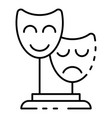 theatre mask icon outline style vector image vector image