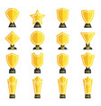 trophy collection vector image