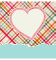 Vintage frame with hearts EPS8 vector image