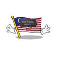 virtual reality flag malaysia hoisted on cartoon vector image vector image