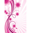 wavy floral background vector image vector image
