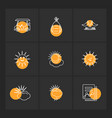 weather sports climate golft eps icons set vector image vector image