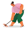 woman cleaning room housekeeper on work cleanup vector image