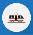 of car symbol on tram flat vector image