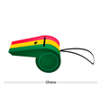 A Whistle of The Republic of Ghana vector image vector image