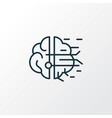 artificial intelligence icon line symbol premium vector image